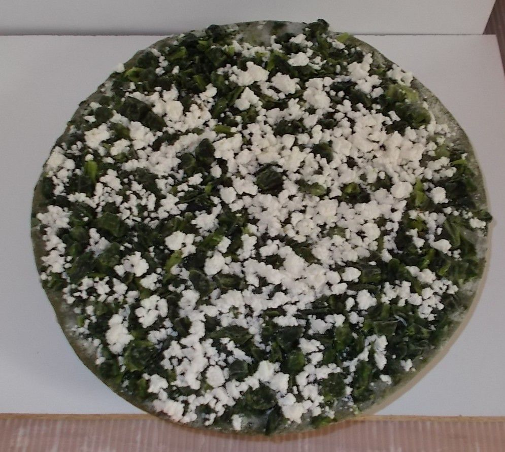 Save the Spinach Pizza mit Spinatboden