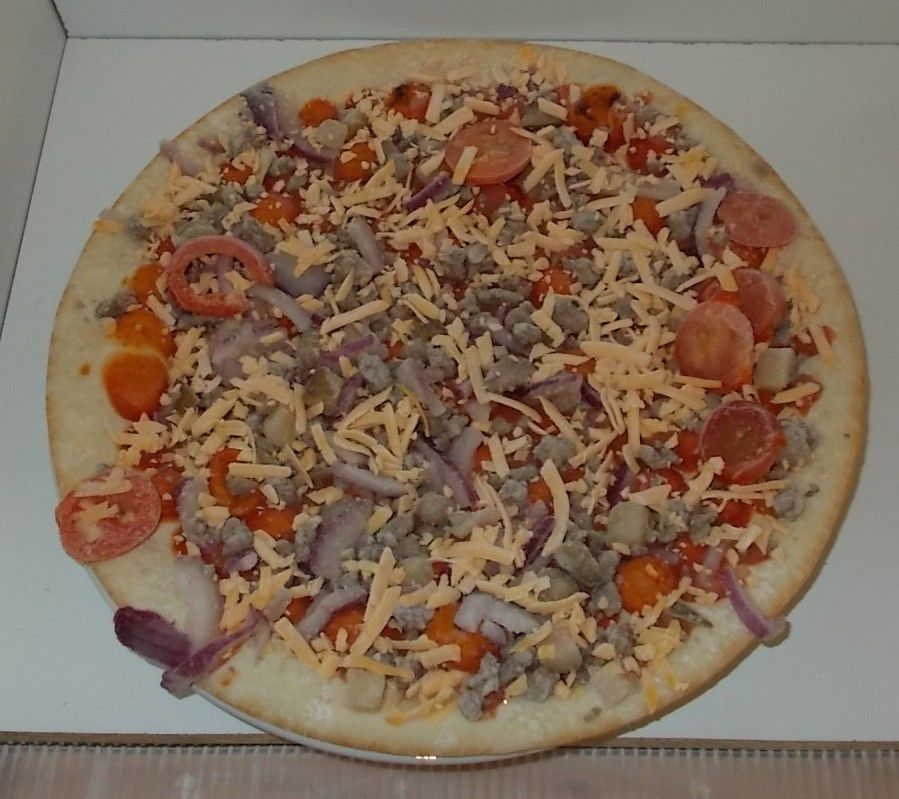 Edeka Gut Gunstig Cheeseburger Pizza Blogtestesser