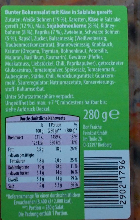 [Aldi] Snack Time Bunter Bohnensalat mit Käse in Salzlake