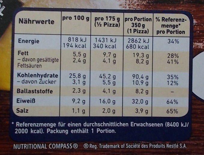 Wagner Die Backfrische Pilze & Spinat mit Speck