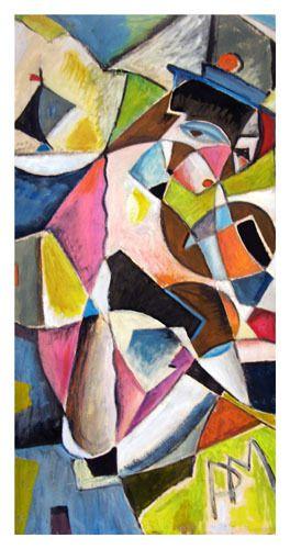 huile sur papier 41cm X 81 cm (1993)