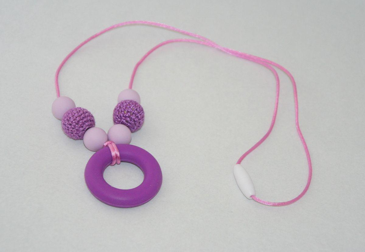 collier d'allaitement bois/silicone