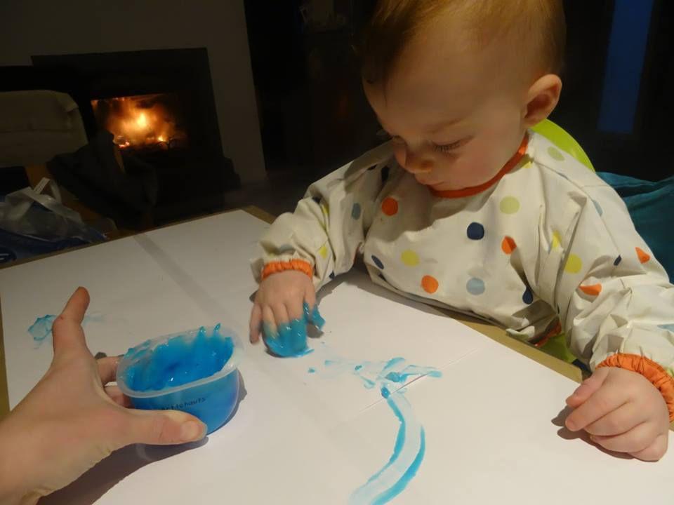 Idées activités : la peinture à doigts non toxique maison
