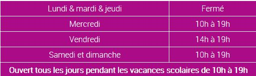 horaires Gigaland