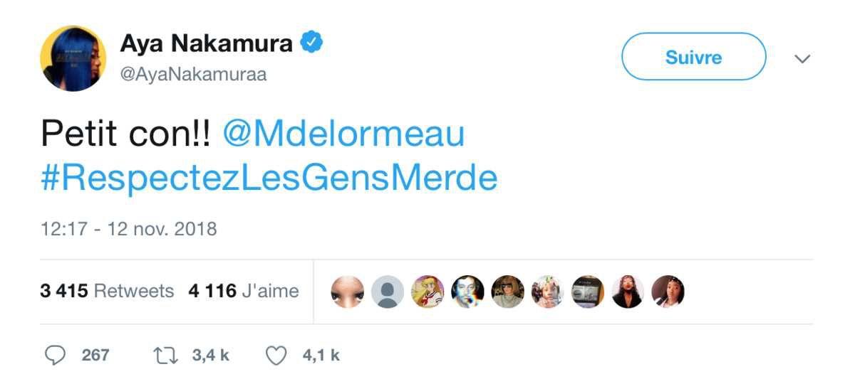 Aya Nakamura insulte violemment Matthieu Delormeau !