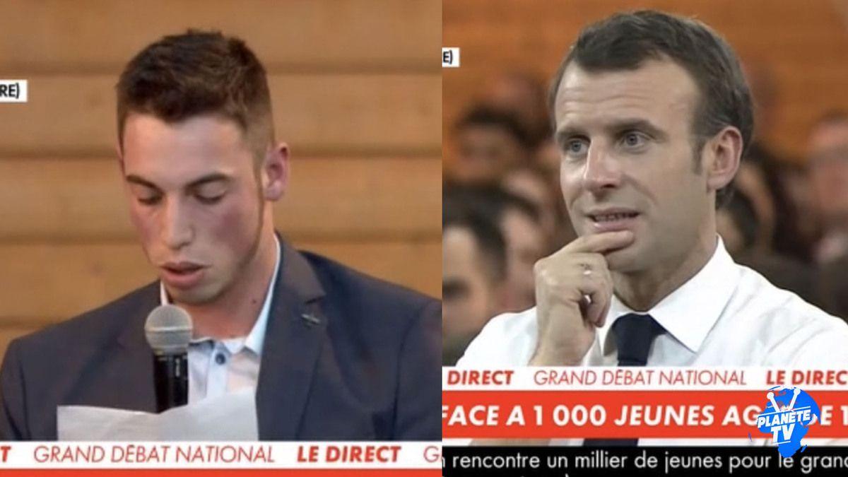 Emmanuel Macron bouleversé par le message d'un jeune homme handicapé