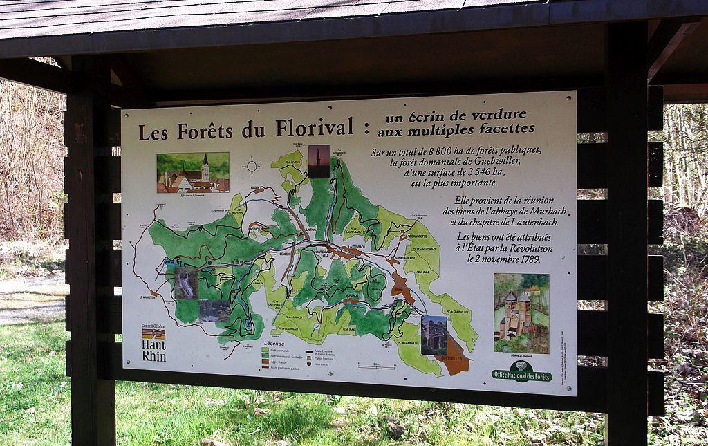 Le panneau des forêts du Florival…
