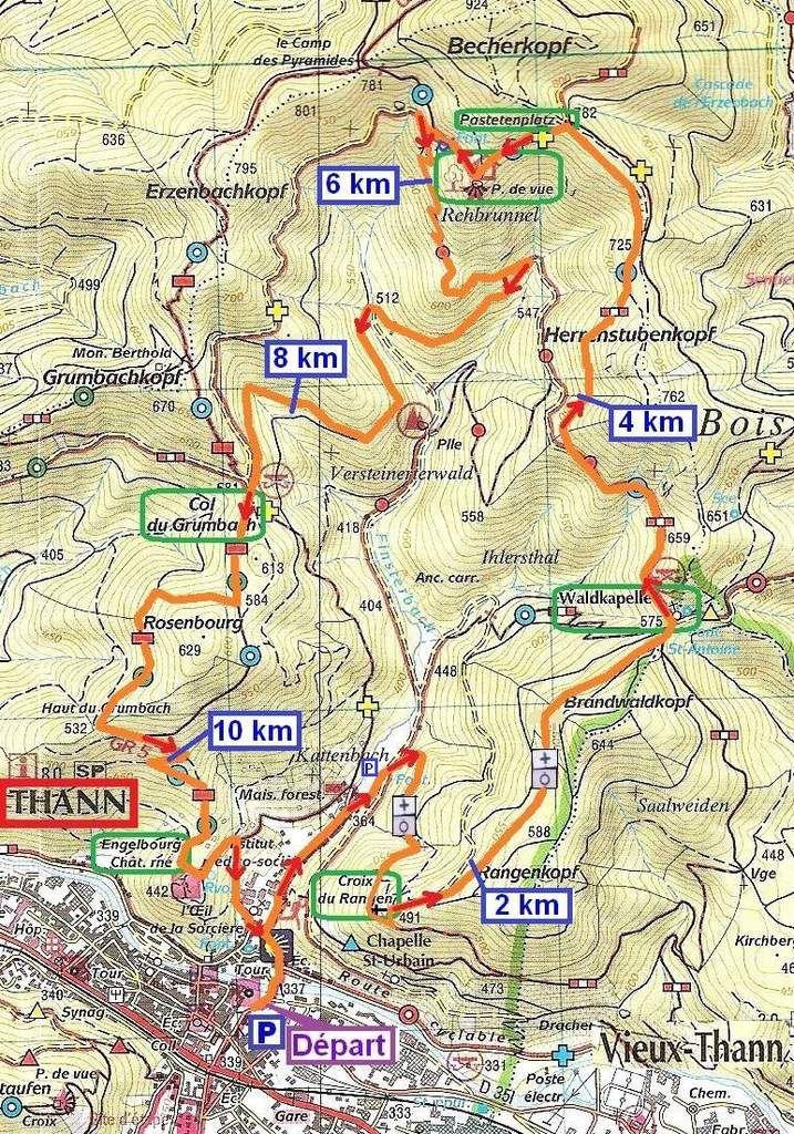 Carte topographique TOP 25 IGN-CV n° 3620 ET (Thann Masevaux).
