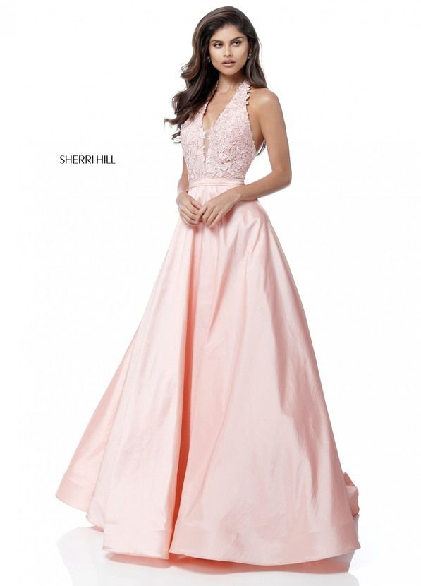 544056bfedc 2018 Sherri Hill 51643 Blush Long Prom Dresses - cheap dresses prom 2016