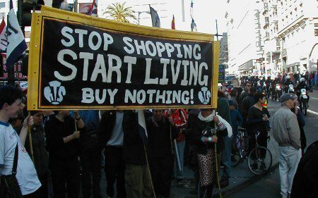"""Buy nothing"" day à San Francisco, en 2000"