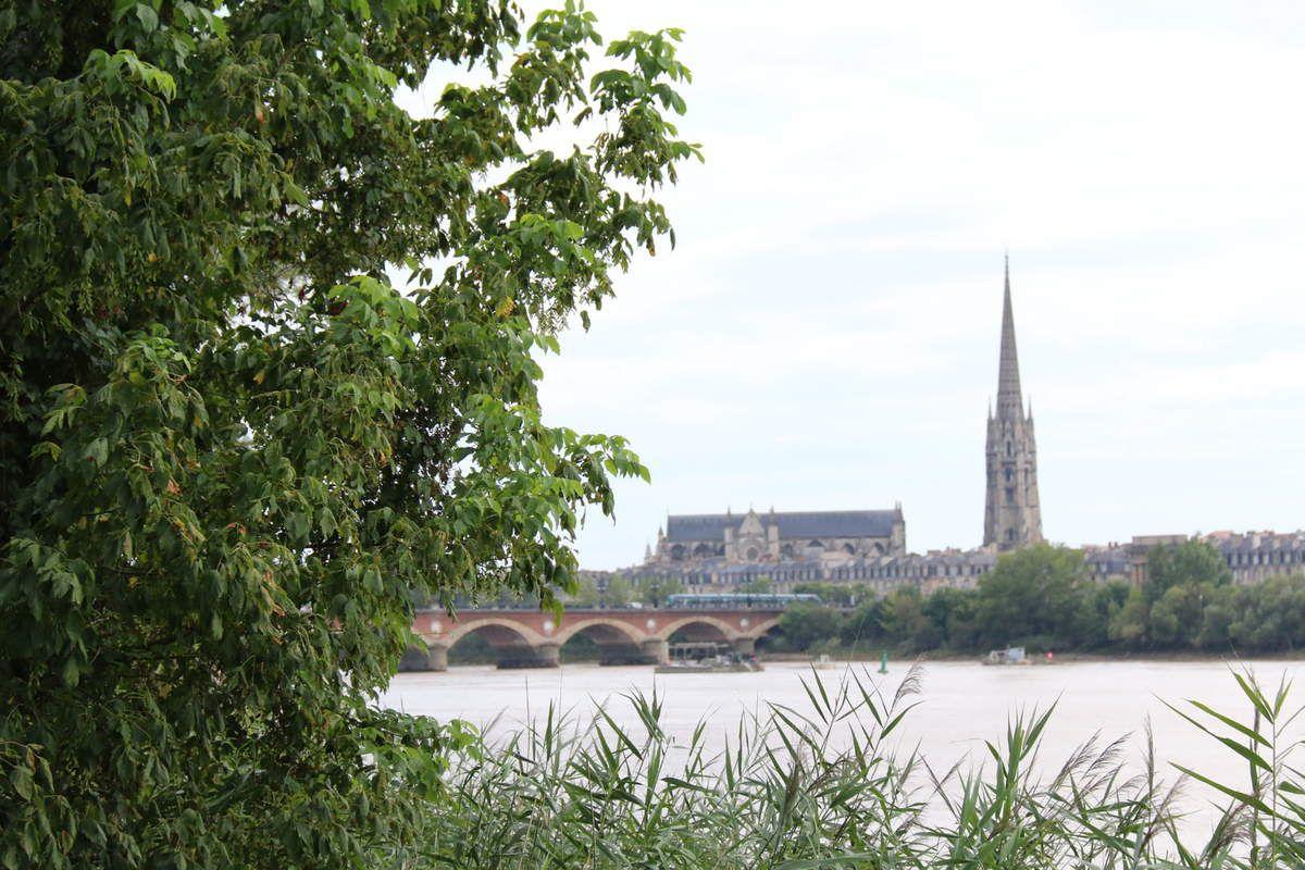 Zoom sur la rive droite de Bordeaux