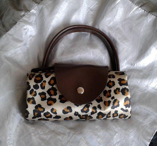 Longchamp stile in 36x46 Tote Borsa Cm lavabile pieghevole leopardo Tp71E