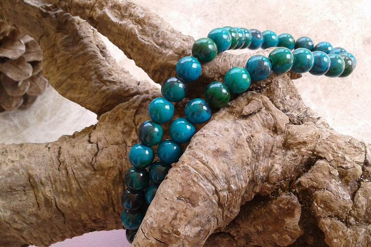 8mm,perle ronde bleu vert,pierre naturelle,gemme semi precieuse,chrysocolla, couleur de la mermagnifique,fourniture bricolage mercerie,decoration accessoire scrap,boheme gothique art nouveau,diy bijou bleu vert marin,dia fil cordon 1 mm