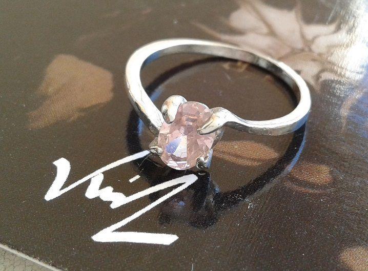 taille 54,zircon rose oval,bague argent tibetain,anneau ferme fiançailles promesse,bijou femme cadeau ceremonie,fete anniversaire noel, boheme gothique romantique,amour amitié