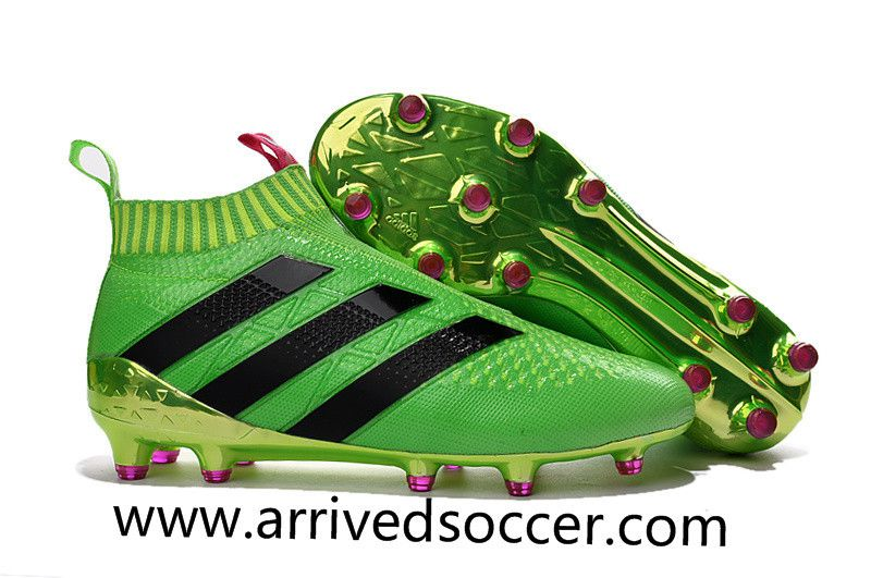 check out 2fb68 ec214 New Arrived Adidas ACE 16+ PureControl FG green shock pink ...