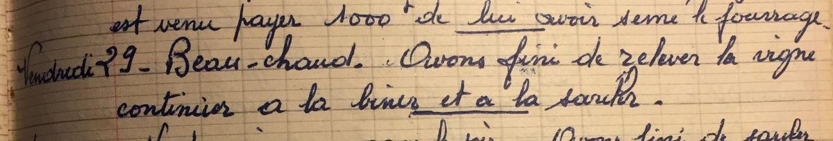 Vendredi 29 juin 1956