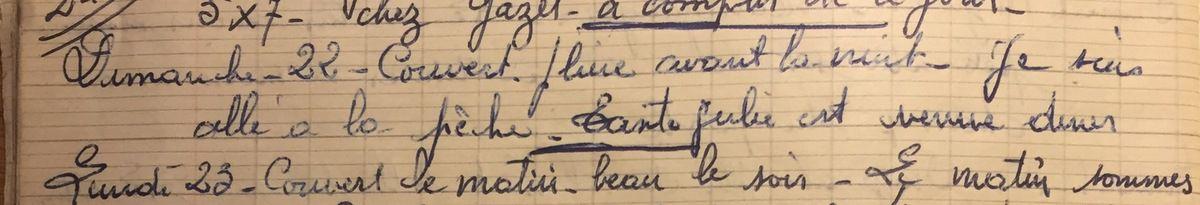 Dimanche 22 juillet 1956 : loisirs