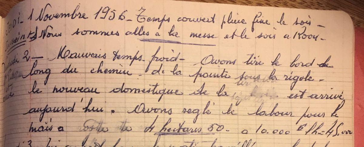 Jeudi 1er et vendredi 2 novembre 1956 - Toussaint