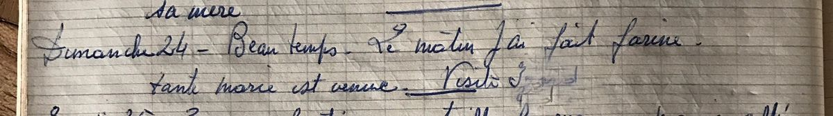 Dimanche 24 février 1957 - Le docteur est encore passé