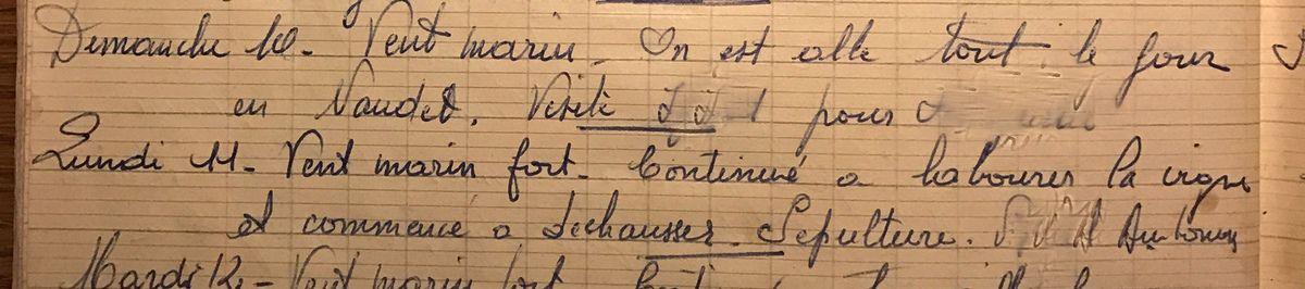Dimanche 10 et lundi 11 mars 1957 - Labours et salaisons