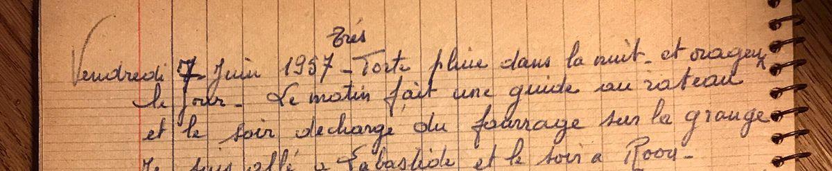 Vendredi 7 juin 1957 - Fabriquer un guide pour le râteau