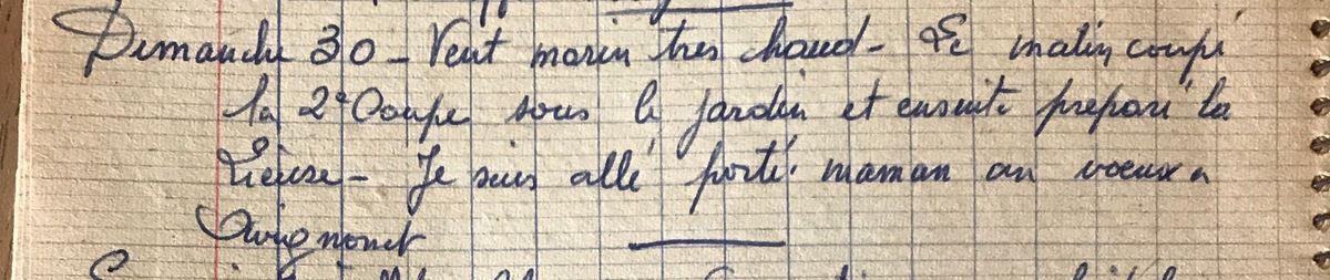 Dimanche 30 juin 1957 - Notre Dame des Miracles à Avignonet