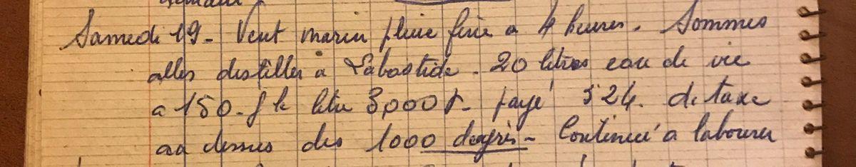 Samedi 19 octobre 1957 - Distiller