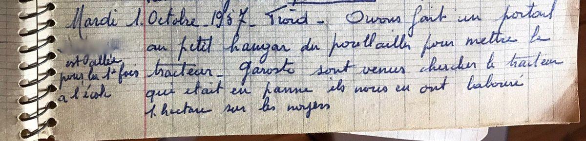 Mardi 1er octobre 1957 - Rentrée des classes