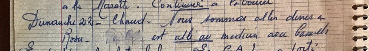 Dimanche 22 septembre 1957 - Dans la belle-famille