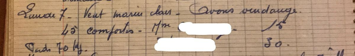 Lundi 7 octobre 1957 - Vendanger