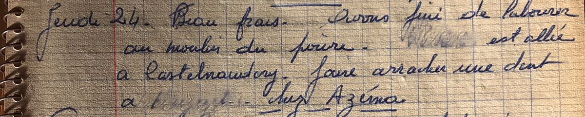 Jeudi 24 octobre 1957 - Extraire une dent