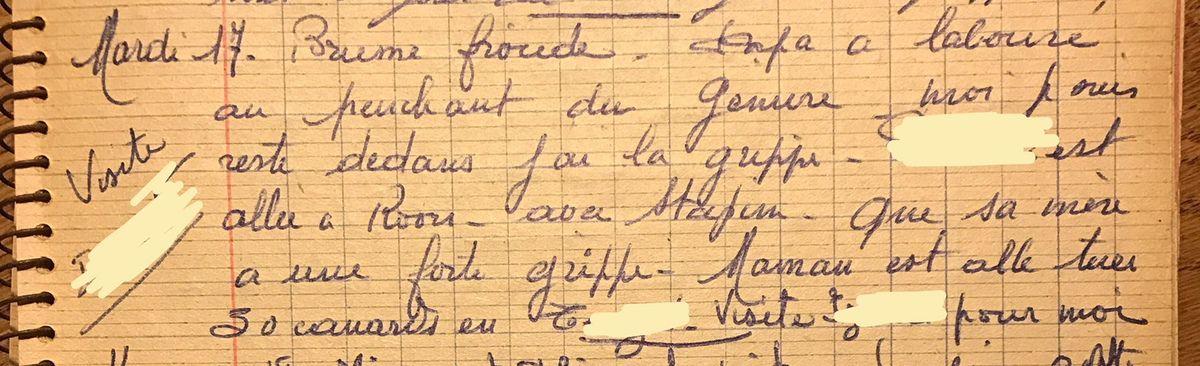 Mardi 17 décembre 1957 - Des grippés, des actifs