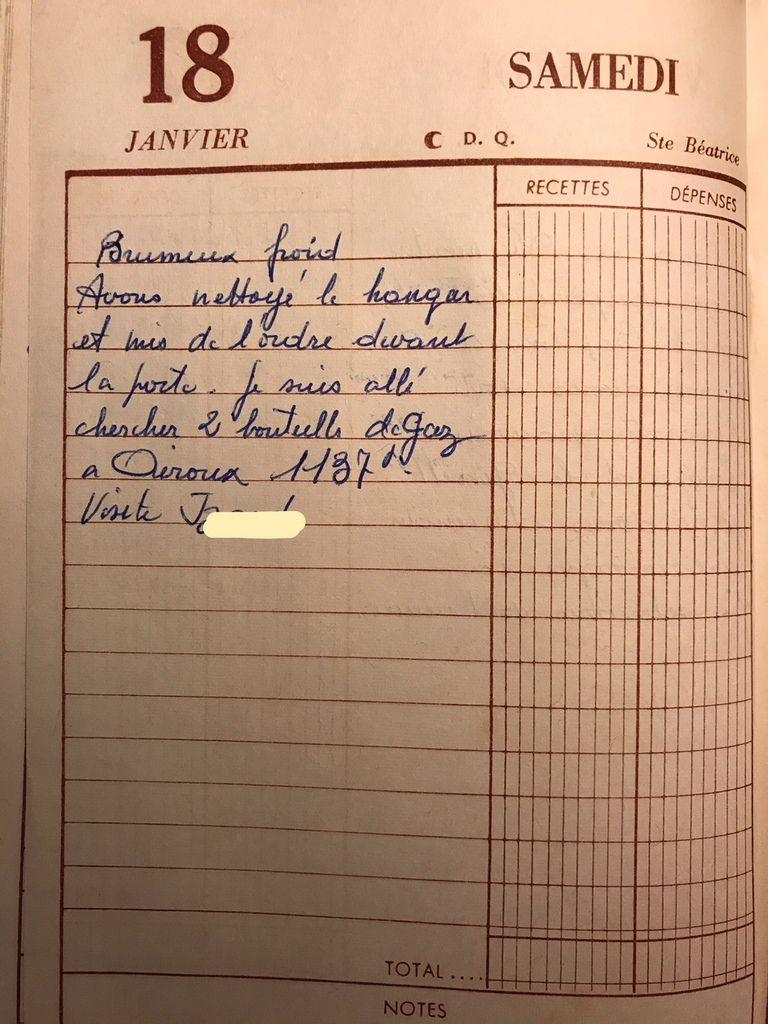 Samedi 18 janvier 1958 - Mettre de l'ordre autour de la borde