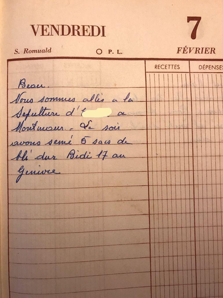 Vendredi 7 février 1958 - Le goût du malheur