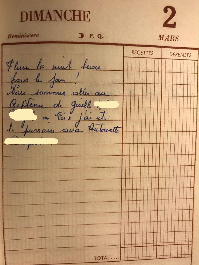 Dimanche 2 mars 1958 - Un baptême, un parrain