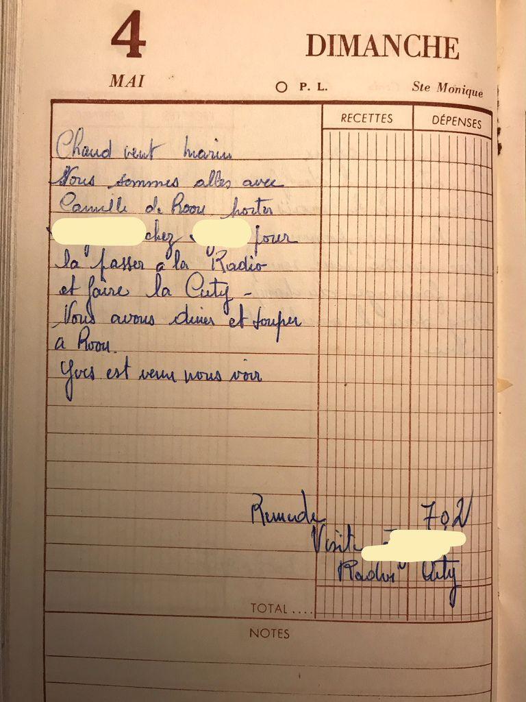 Dimanche 4 mai 1958 - Faire des examens