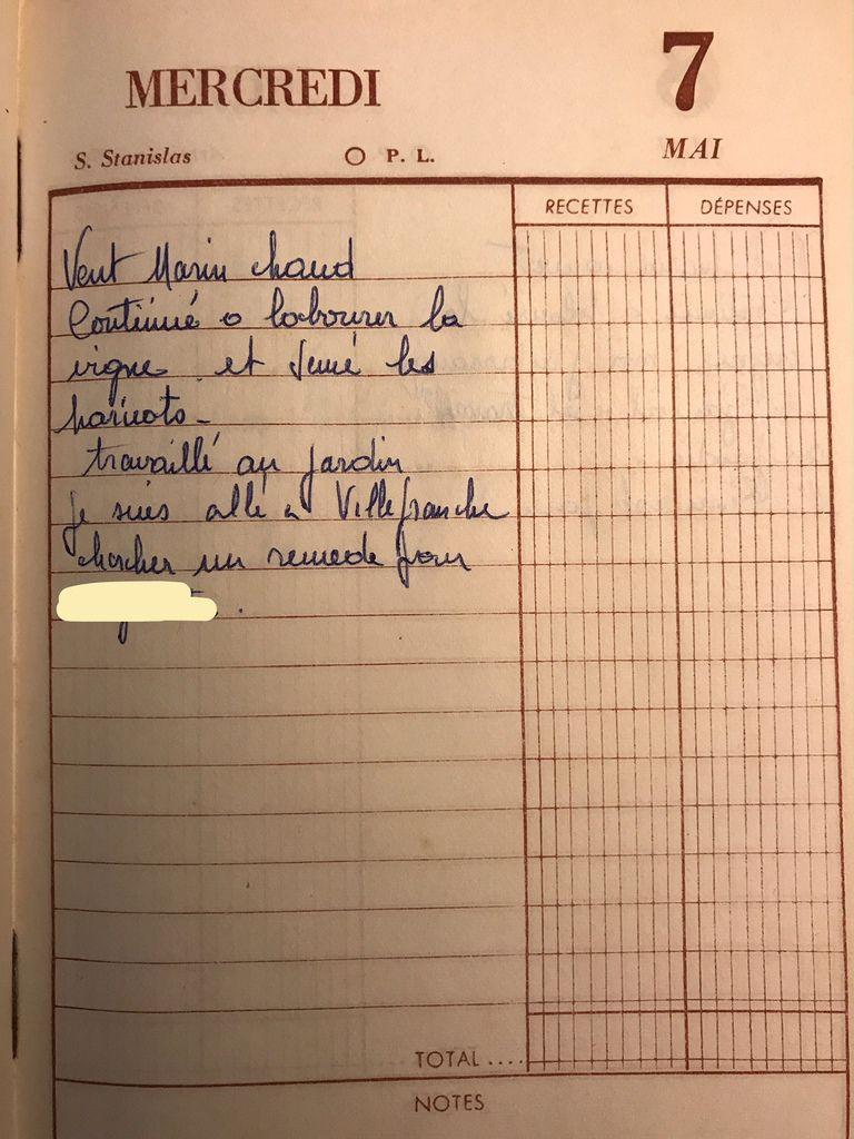 Mercredi 7 mai 1958 - Semer les haricots