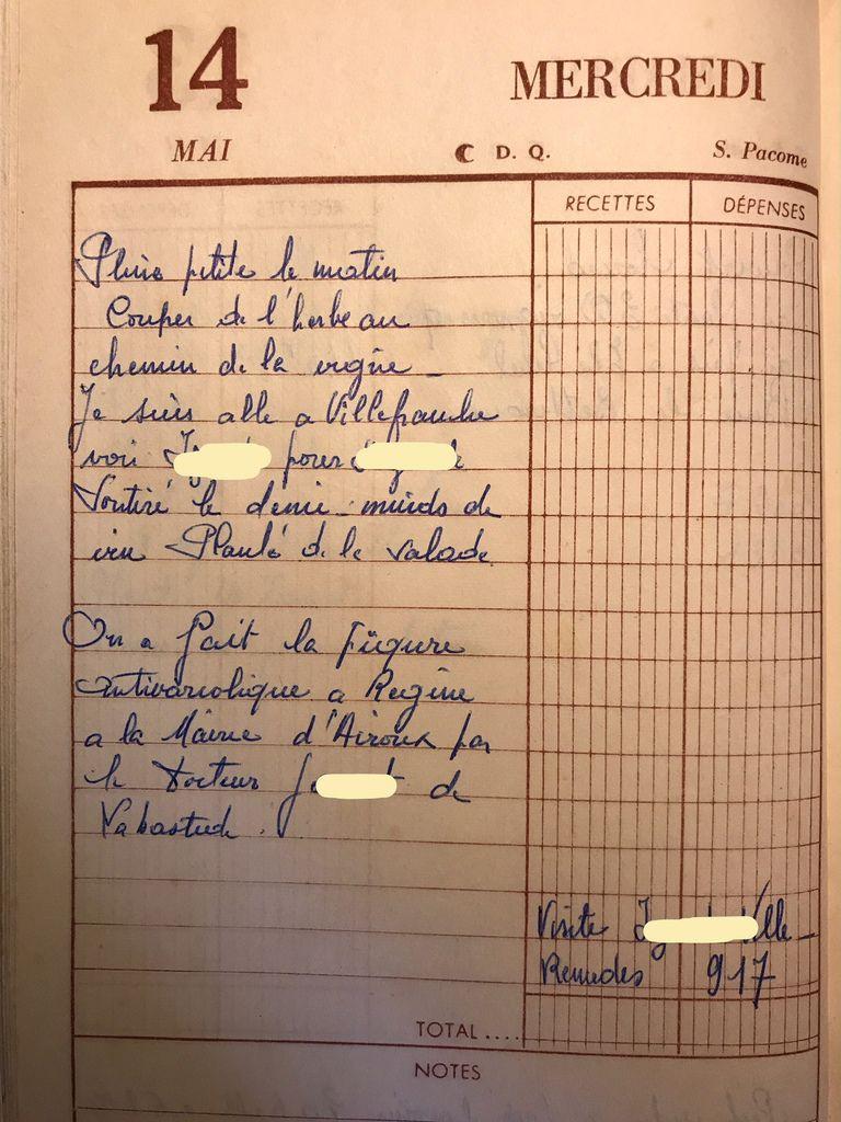 Mercredi 14 mai 1958 - Les visites chez les docteurs