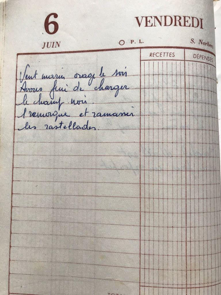 Vendredi 6 juin 1958 - Les rastelades
