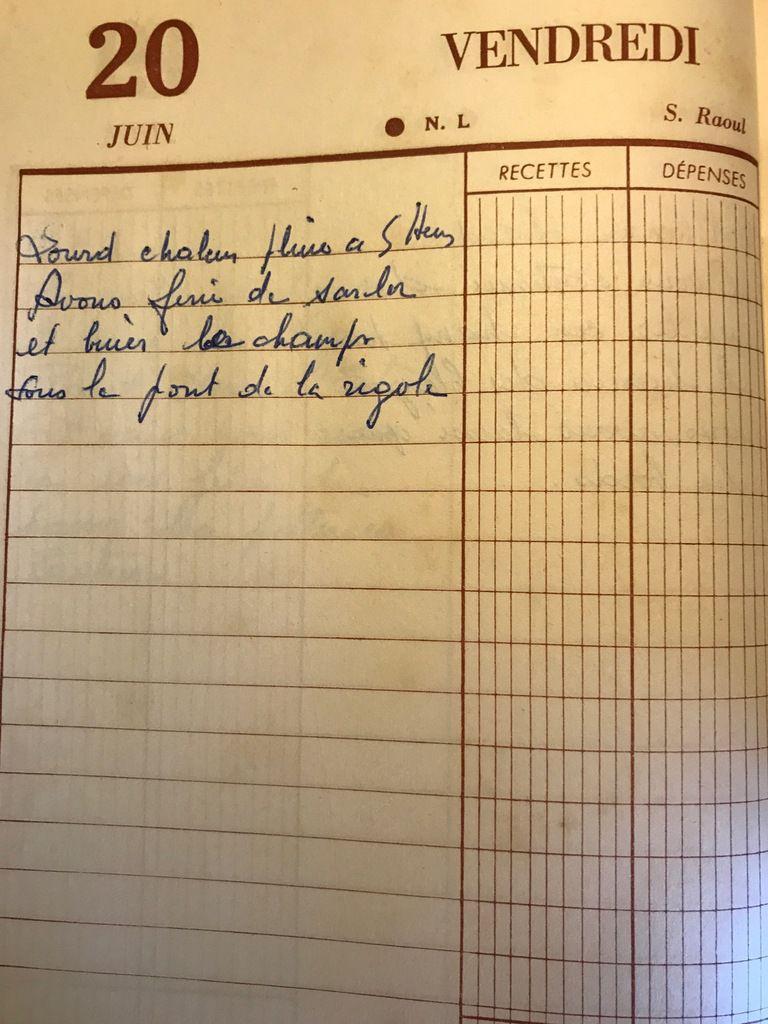 Vendredi 20 juin 1958 - la pluie de 5 heures