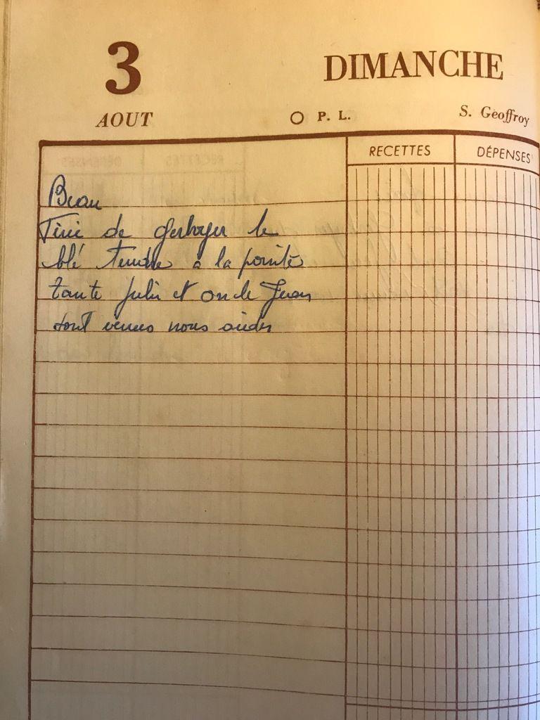 Dimanche 3 août 1958 - le blé tendre de la pointe