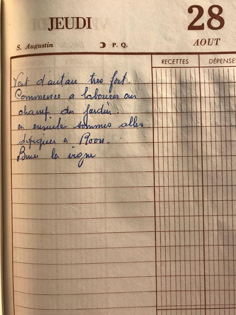 Jeudi 28 août 1958 - Début des labours