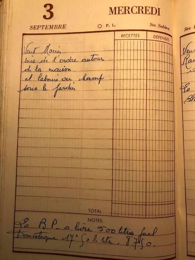 Mercredi 3 septembre 1958 - Autour de la maison