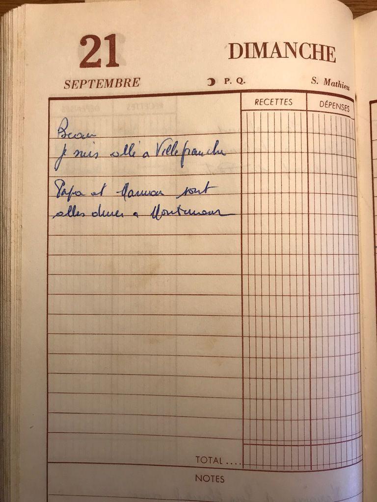 Dimanche 21 septembre 1958 - En ville