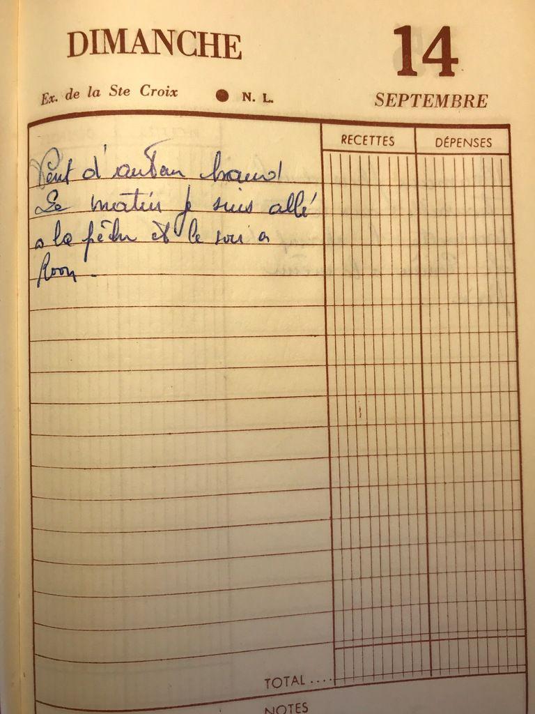 Dimanche 14 septembre 1958 - Poissons de septembre
