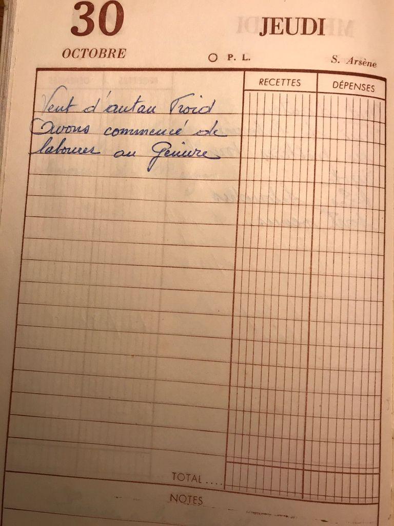 Jeudi 30 octobre 1958 - Labourer le Genivre