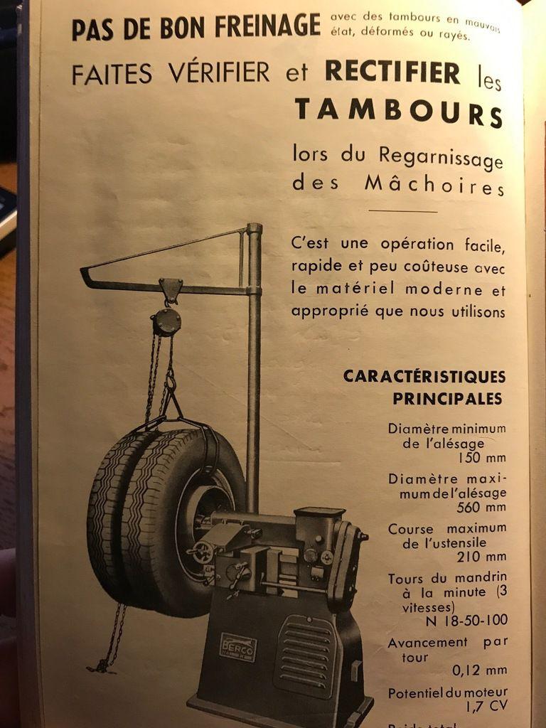 Page de publicité de 1958 dans les carnets d'Emile