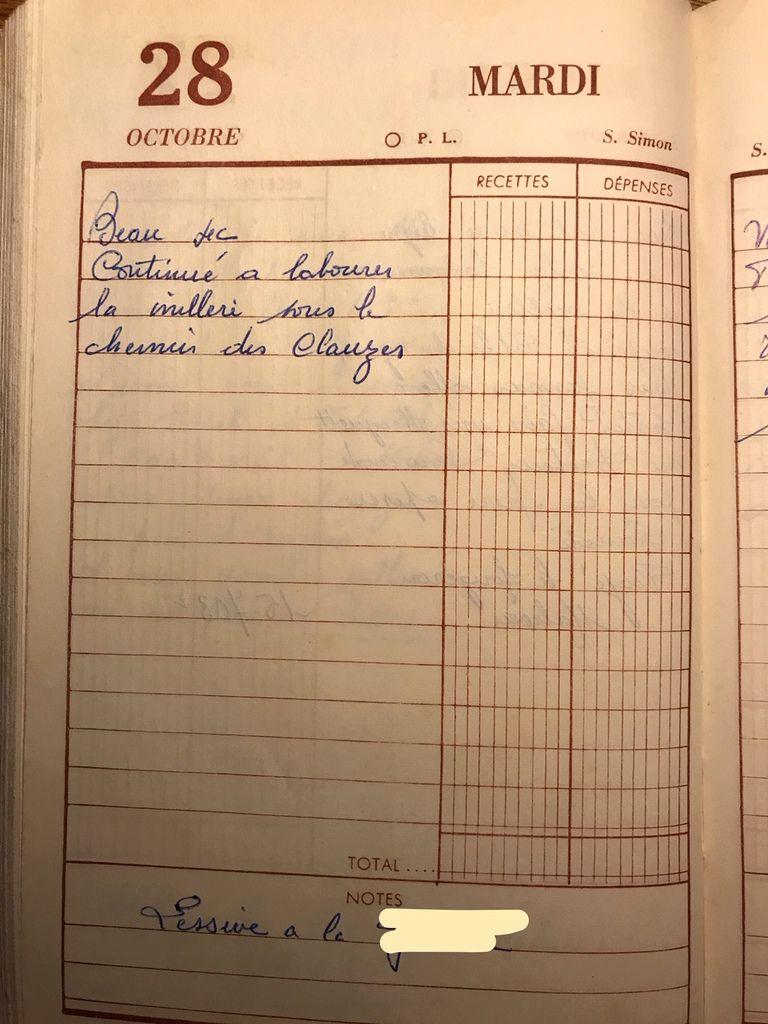 Mardi 28 ocotobre 1958 - La lessive