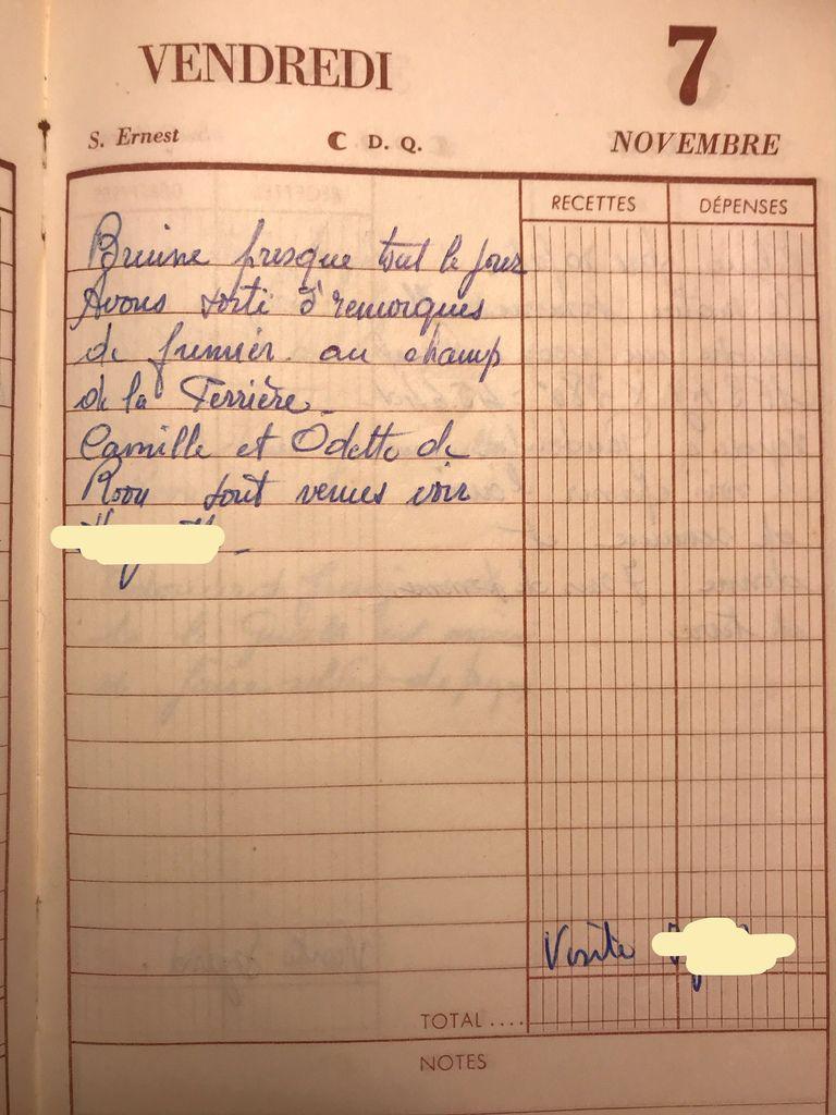 Vendredi 7 novembre 1958 - les remorques