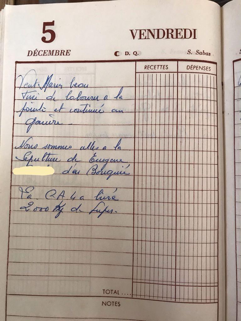 Vendredi 5 décembre 1958 - Un enterrement
